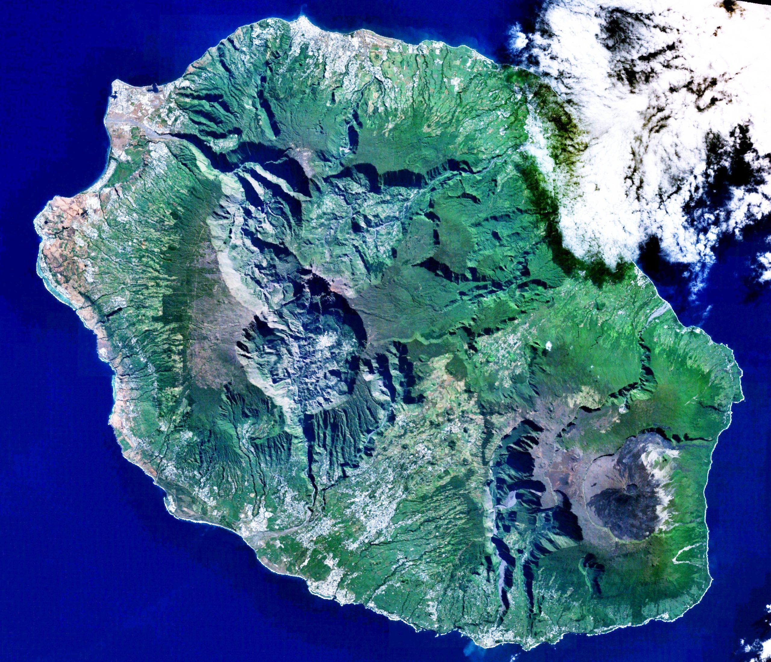Où se trouve l'île de la Réunion sur la carte du monde?